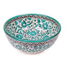 decorative fruit bowl fes ceramic bowl green 25cm