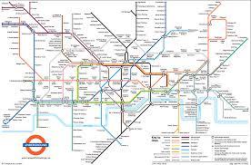 map underground large view of the standard underground map