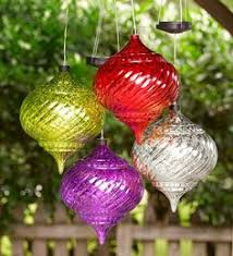 solar lighted hanging ornament christmas decor outside