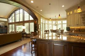 kitchen dining room living room open floor plan living room lighting small home open concept living space with
