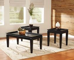livingroom table with black rectangle modern wood living room