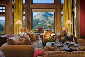 Picture Yourself In The Living Room by A Dream Home In Big Sky With Rustic Mountain Style