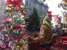 a map of 19 spots to get into the holiday spirit in sf