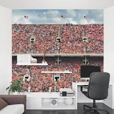 orange stadium wall mural