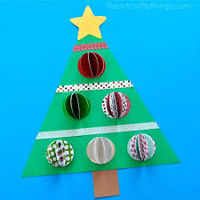 3d paper christmas tree craft i heart crafty things