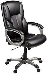 Big And Tall Office Chairs Amazon Amazon Com Amazonbasics High Back Executive Chair Black