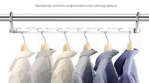 ipow wonder magic metal wardrobe closet bar clothes coat hanger