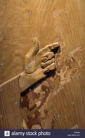 up detail of wood carving artwork displayed inside lincoln