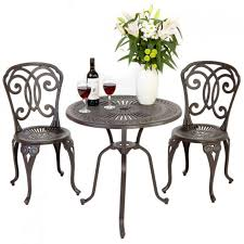 Aluminium Bistro Table And Chairs Furniture Interesting Bistro Set For Modern Outdoor Room Design