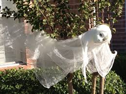 hobby lobby halloween crafts the ghost was made from cheesecloth glued to a styrofoam head from