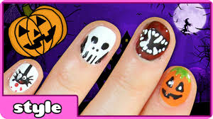halloween nail art ideas five cute u0026 easy halloween nail