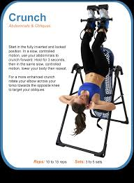 inversion table how to use crunches on a teeter hang ups inversion table i ll get there some