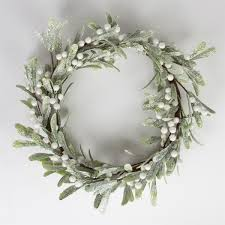 Mistletoe Decoration Silver Mistletoe Wreath