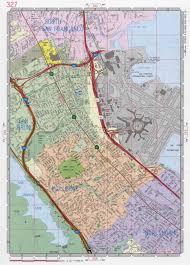 California Road Map Burlingame City Road Map