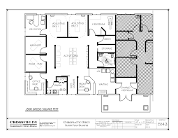 chiropractor office floorplan with open active cary and semi open