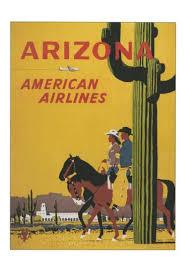 Arizona travel careers images Vintage american airlines arizona travel poster retro snapshots jpg