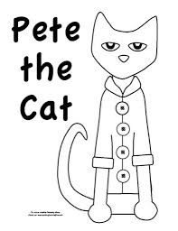 the awesome pete the cat coloring pages with regard to encourage