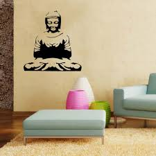 online get cheap wall mural portrait aliexpress com alibaba group pvc wall sticker sitting buddha 90cm buddhism monk decoration wall art home decor wall mural sitting