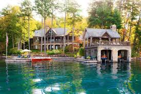 cabin style houses lakeside house plans lake cabins design view cottage rustic