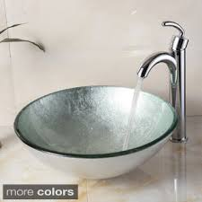 bathroom sink and faucet combo elite new tempered bathroom black swirl glass vessel sink with