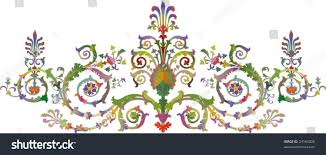 baroque ornamentation vector stock vector 23164006