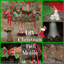 diy christmas bell mobile stay at home life