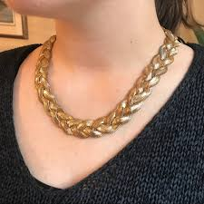 braided chain necklace images Macy 39 s jewelry thick gold braided chain necklace poshmark jpg