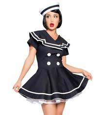 Ship Captain Halloween Costume Pinup Costumes Pin Girls Costumes Sailor Halloween