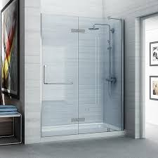 shop ove decors shelby 58 25 in to 58 75 in frameless polished ove decors shelby 58 25 in to 58 75 in frameless polished chrome hinged shower door