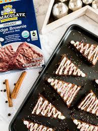 gingerbread brownies plated cravings