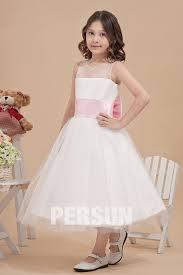 robe mariage enfants robe mariage enfant princesse à noeud papillon en tulle