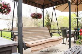 Patio Drapes Outdoor How To Add Curtains To An Outdoor Covered Patio Swing Hometalk