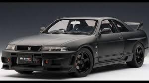 nissan gtr matte black new autoart matt black nissan skyline gt r r tune r33 youtube