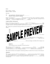 commercial loan proposal letter legal forms and business