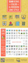 color modern line icon set by iconsoul graphicriver