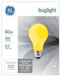 bug light light bulbs ge 60a y 2 pack 60w yellow bug light bulb snows home and garden