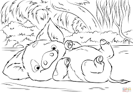 pua pet pig from moana coloring page free printable coloring