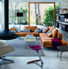 Best Cushions On Leather Sofa Images On Pinterest Living Room - Leather sofa interior design