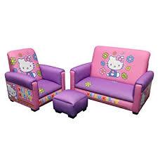 sofa chair and ottoman set amazon com hello kitty sofa chair and ottoman set