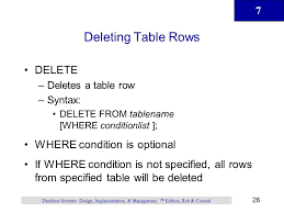 Delete All Rows From Table Introduction To Structured Query Language Sql Ppt Download