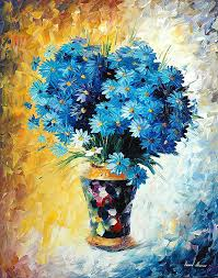 paint dream blue dream palette knife oil painting on canvas by leonid