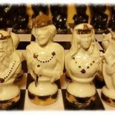Ceramic Chess Set Handcrafted Ceramic Dragon Lore Chess Set Detail In 22kt Gold