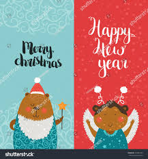 merry christmas happy new year cards stock vector 324883553