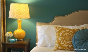 blue and yellow color scheme for bedroom home