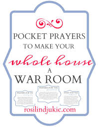 pocket prayers to make your whole house a war room a little r r download this set of pocket prayers to make your whole house a war room as you