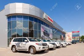 toyota dealer japan samara russia may 24 2014 office of official dealer toyota