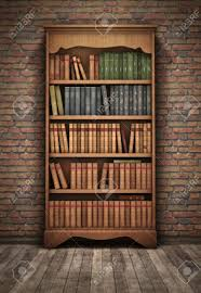 Background Bookshelf Old Bookshelf In Room Background Stock Photo Library Old Tikspor