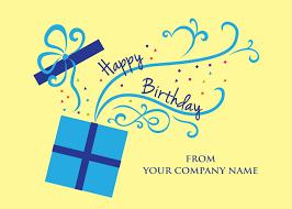 Birthday Card Sender Card Invitation Sles Company Birthday Cards Modern Design