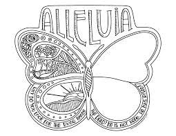 alleluia butterfly coloring page u0026 poster u2013 illustrated children u0027s