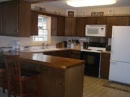 shaped small kitchen designs extraordinary home design kitchen breakfast bar ideas wooden laminate flooring brown